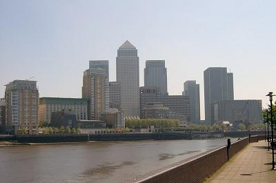 The Canary Wharf Skyline
